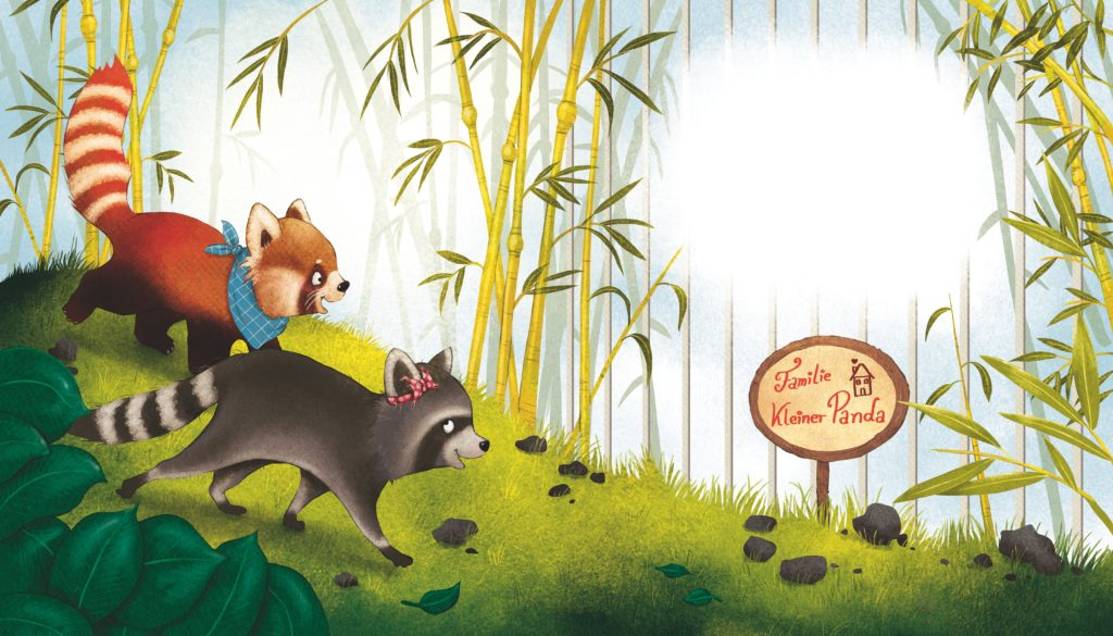 Kleiner Panda Pai - Seite 11- Illustration Kerstin Schoene Copyright Loewe Verlag Bindlach 2016 Text Saskia Hula