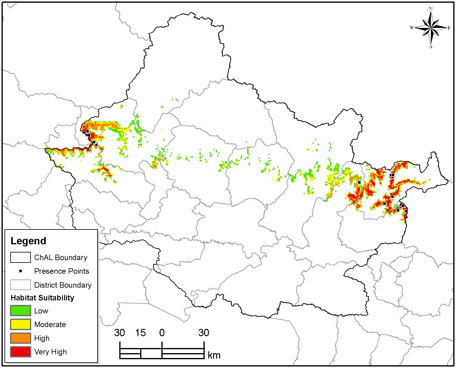 red panda habitat sutability